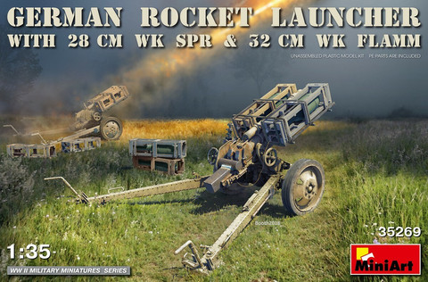 German Rocket Launcher with 28cm WK SPR & 32cm WK Flamm, 1:35