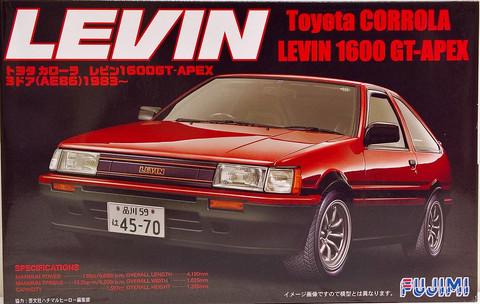 Toyota Corolla Levin 1600 GT-Apex, 1:24 (pidemmällä toimitusajalla)