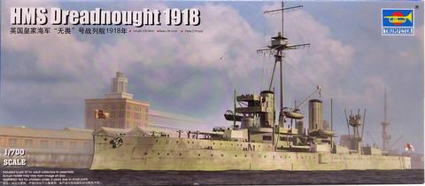HMS Dreadnought 1918, 1:700
