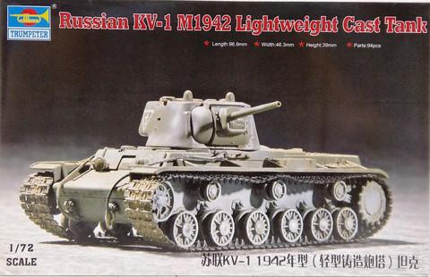 Russian KV-1 M1942 Lightweight Cast Tank, 1:72
