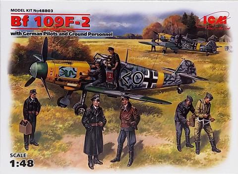 Messerschmitt Bf109 F-2 with German Pilots and Ground Personnel, 1:48 (pidemmällä toimitusajalla)
