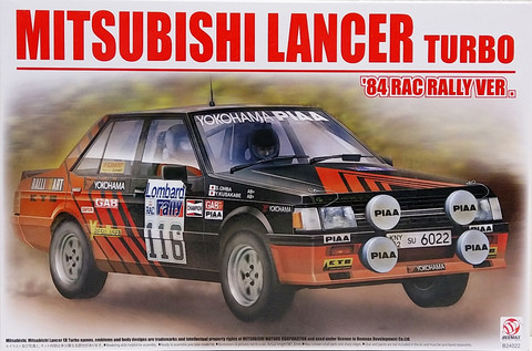 Mitsubishi Lancer Turbo '84 RAC Rally, 1:24
