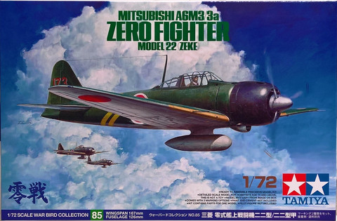 Mitsubishi A6M3/3a Zero Fighter, 1:72