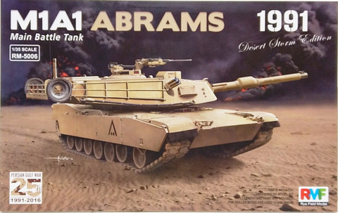 U.S. Main Battle Tank M1A1 Abrams 1991, 1:35 (pidemmällä toimitusajalla)