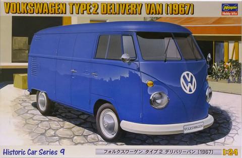 Volkswagen Type2 Delivery Van '67, 1:24 (pidemmällä toimitusajalla)