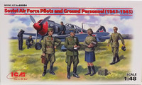 Soviet Air Force Pilots and Ground Personnel, 1:48