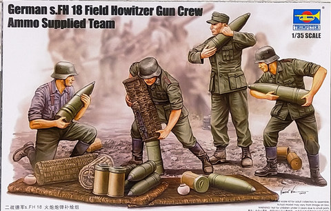 German s.FH 18 Field Howitzer Gun Crew Ammo Supplied Team, 1:35