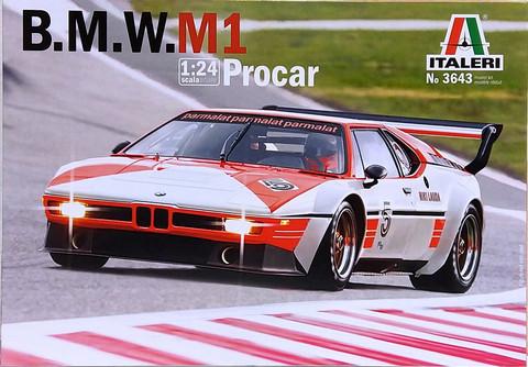 BMW M1 Procar, 1:24 (pidemmällä toimitusajalla)