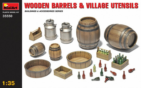 Wooden Barrels & Village Utensils, 1:35