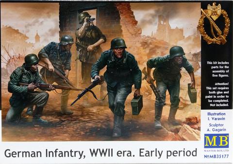 German Infantry, WWII era. Early Period, 1:35