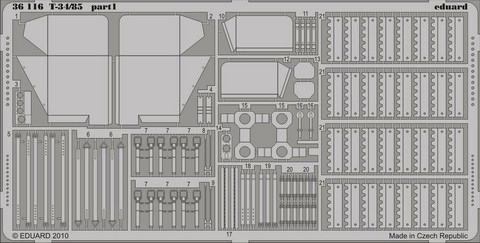 T-34/85 Photoetched Parts (for AFV Club), 1:35