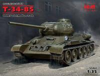 T-34/85 WWII Soviet Medium Tank, 1:35
