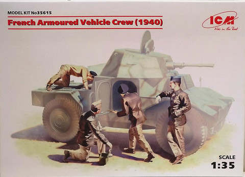 French Armoured Vehicle Crew (1940), 1:35