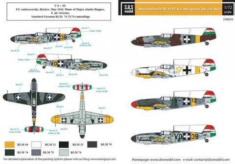 Messerschmitt Bf-109F-4 in Hungarian Service Vol.I, 1:48