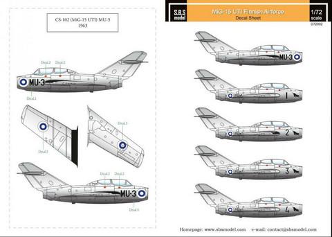 Mig-15 UTI Finnish Airforce, 1:72