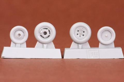 Folland Gnat T.1 Wheel Set (for AIRFIX kit), 1:48
