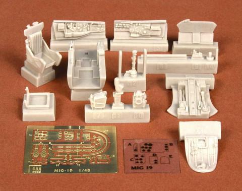 MIG-19 PM Cockpit Set (for Trumpeter kit), 1:48