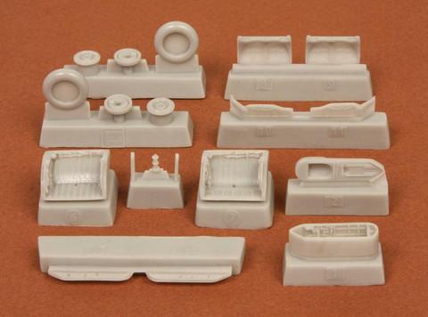 MIG-21 BIS Wheelbays & wheels (for zvezda kit), 1:72