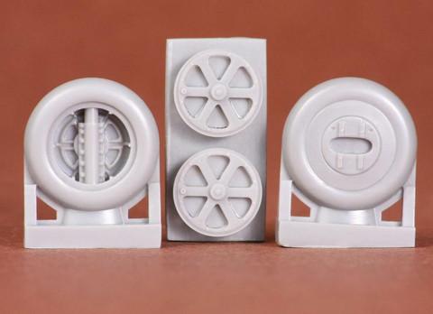 Gloster Gladiator Wheel Set spoked (for Merit kit), 1:48