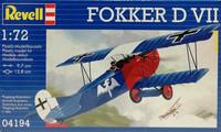 Fokker D VII, 1:72