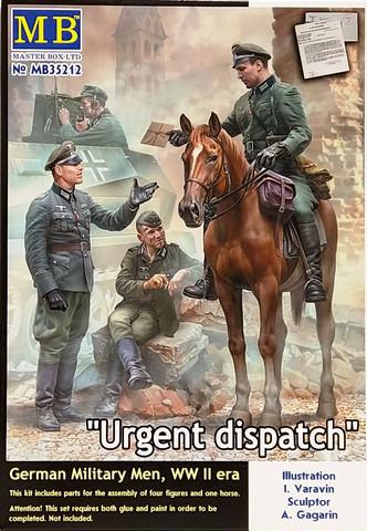 Urgent Dispatch, German Military Men, WWII, 1:35 (pidemmällä toimitusajalla)