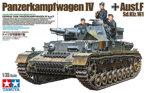 German Tank Panzerkampfwagen IV Ausf.F, 1:35 (Pidemmällä toimitusajalla)