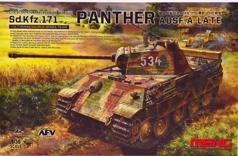 German Medium Tank Sd.Kfz.171 Panther Ausf.A Late, 1:35 (pidemmällä toimitusajalla)