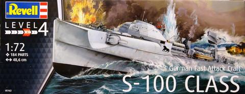 German Fast Attack Craft S-100 Class, 1:72 (pidemmällä toimitusajalla)