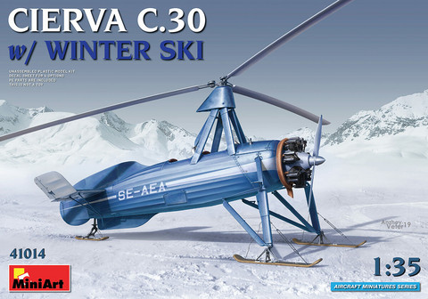 Cierva C.30 with winter ski, 1:35