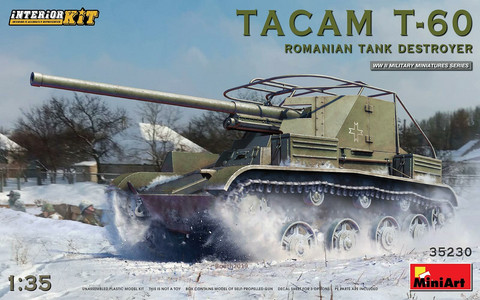Tacam T-60 Romanian Tank Destroyer with Interior, 1:35
