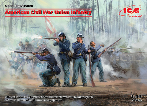 American Civil War Union Infantry, 1:35