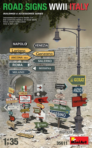 Road Signs WWII Italy, 1:35