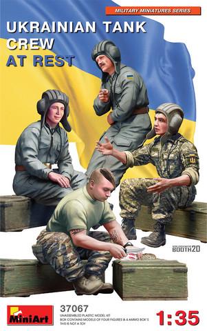 Ukrainian Tank Crew At Rest, 1:35