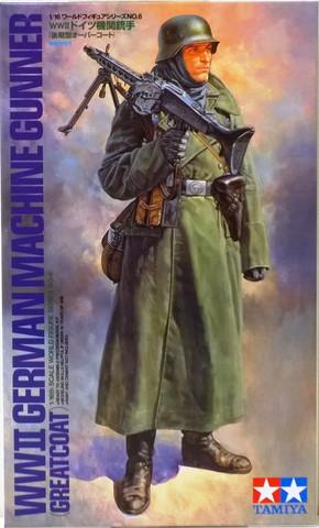 WWII German Machine Gunner (Greatcoat), 1:16