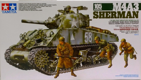 M4A3 Sherman 105mm Howitzer, 1:35