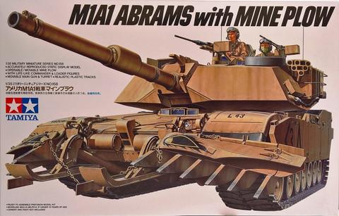 U.S. M1A1 Abrams with Mine Plow, 1:35