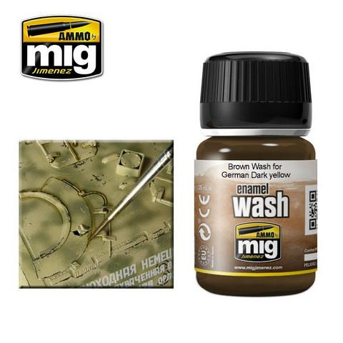 Brown Wash for German Dark Yellow 35ml