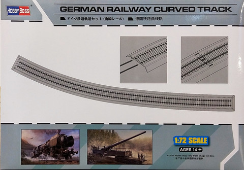 German Railway Curved Track, 1:72