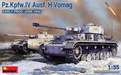 Pz.Kpfw.IV Ausf. H Vomag. Early Prod. (June 1943), 1:35 (Pidemmällä toimitusajalla)
