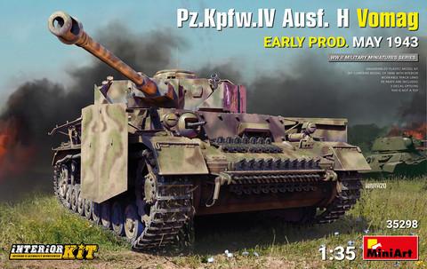 Pz.Kpfw.IV Ausf. H Vomag. Early Prod. (May 1943) Interior Kit, 1:35 (Pidemmällä toimitusajalla)