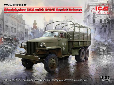 Studebaker US6 with WWII Soviet Drivers, 1:35 (Pidemmällä toimitusajalla)