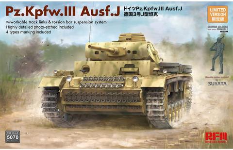 Pz. Kpfw. III Ausf. J w/workable track links, 1:35 (pidemmällä toimitusajalla)