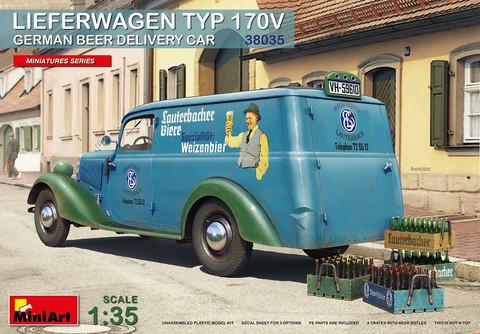 Lieferwagen Typ 170V German Beer Delivery Car, 1:35 (Pidemmällä toimitusajalla)