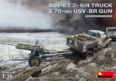 Soviet 2t 6x4 Truck w.76mm USV-BR Gun, 1:35 (Pidemmällä toimitusajalla)