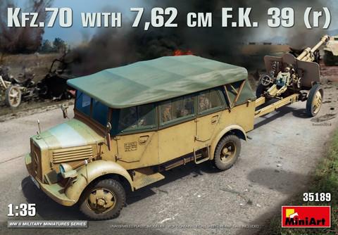 Kfz.70 & 7,62 cm F.K. 39(r), 1:35 (Pidemmällä toimitusajalla)