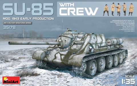 SU-85 Mod.1943(Early Production) with Crew, 1:35 (Pidemmällä toimitusajalla)