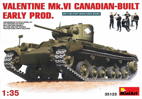 Valentine Mk 6. Canadian - built Early Production, 1:35 (pidemmällä toimitusajalla)