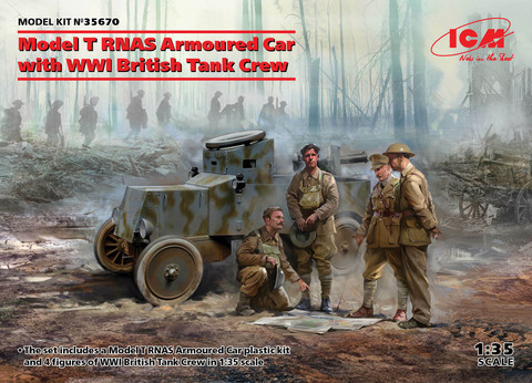 Model T RNAS Armoured Car with WWI British Tank Crew, 1:35 (pidemmällä toimitusajalla)