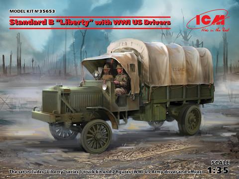 Standard B Liberty with WWI US Drivers, 1:35 (pidemmällä toimitusajalla)