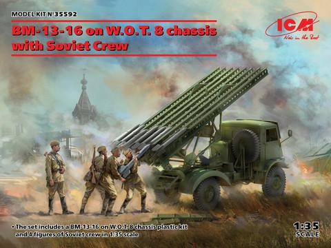BM-13-16 on W.O.T. 8 chassis with Soviet Crew, 1:35 (pidemmällä toimitusajalla)